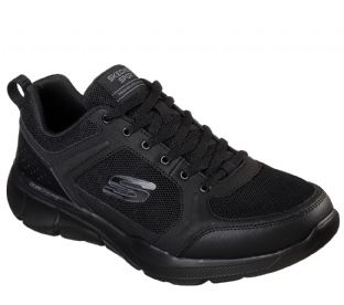 Mens Skechers 52940 BBK Relaxed Fit Equalizer 3 DECIMENT Black Trainers